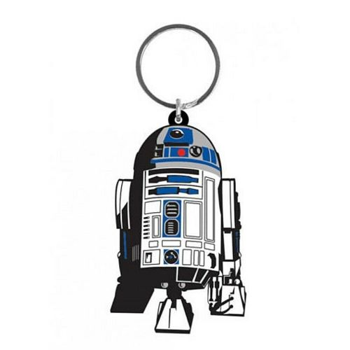 Star Wars R2-D2 Droid Keyring Rubber Keychain Fob